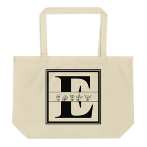 "ASL Bag ""Custom ASL"" 20x14 Large Organic ASL Tote Bag"