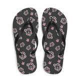 "Sign Language Shoes ""ILY Floral"" ASL Flip-Flops Sandals"