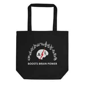 "ASL Bag ""Brain Power"" 16x14.5 Organic ASL Tote Bag"