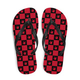 "Sign Language Shoes ""ILY Checkered"" ASL Flip-Flops Sandals"