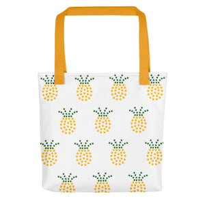 "ASL Bag ""ILY Pineapple"" Polyester 15x15 Pattern ASL Tote Bag"
