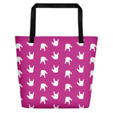 "ASL Bag ""ILY Wave"" Polyester 16x20 ASL Tote Beach Bag"