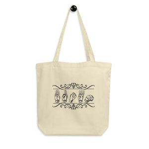 "ASL Bag ""Custom"" 16x14.5 Organic ASL Tote Bag"