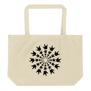 "ASL Bag ""ILY Burst"" 20x14 Large Organic ASL Tote Bag"
