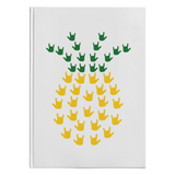 "ASL Stationery ""ILY Pineapple"" Hardcover ASL Journal"