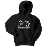 "Sign Language Hoodie ""Sign Power"" Youth Pullover ASL Hoodie"