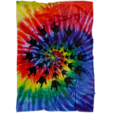 "Sign Language Blanket ""ILY Tie-Dye"" Microfiber Fleece ASL Blanket"