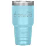 "Sign Language Tumbler ""Personalized"" Etched Steel ASL Tumbler 30oz"