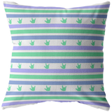 "ASL Home Decor ""ILY Striped"" ASL Throw Pillow - Multiple Sizes"