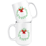 "Holiday ""ASL Wreath"" Ceramic ASL Coffee Mug"