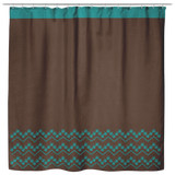 "ASL Home Decor ""ILY Chevron"" Fabric ASL Shower Curtain: Brown"
