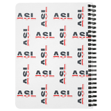 "ASL Stationery ""Flag Letters"" 5 x 7 Spiral ASL Notebook"