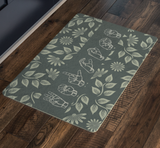 "ASL Home Decor ""Welcome"" 26x18 Floral ASL Doormat"