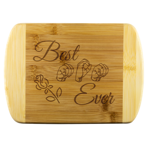 "ASL Merchandise ""Best Mom"" Etched Bamboo Cutting Board"