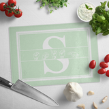 "ASL Merchandise ""Custom ASL"" Personalized Glass Cutting Board"