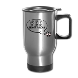 "Sign Language Mug ""See What I Mean"" Stainless ASL Travel Mug - silver"