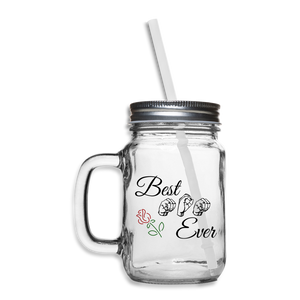 "ASL Merchandise ""Best Mom"" Mason Jar ASL Glassware - clear"