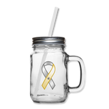 "ASL Merchandise ""Awareness"" Mason Jar ASL Glassware - clear"