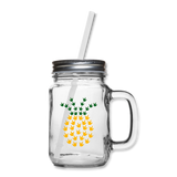 "ASL Merchandise ""ILY Pineapple"" Mason Jar ASL Glassware 12oz - clear"