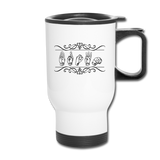 "Sign Language Mug ""Custom"" Stainless Steel ASL Travel Mug - white"