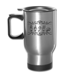 "Sign Language Mug ""Custom"" Stainless Steel ASL Travel Mug - silver"