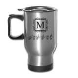 "Sign Language Mug ""Monogram"" Stainless Steel ASL Travel Mug - silver"