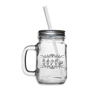 "ASL Merchandise ""Custom"" Mason Jar ASL Glassware 12oz - clear"