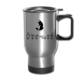 "Sign Language Mug ""Fishing"" Stainless Steel ASL Travel Mug - silver"