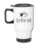 "Sign Language Mug ""Bowling"" Stainless Steel ASL Travel Mug - white"