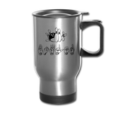 "Sign Language Mug ""Bowling"" Stainless Steel ASL Travel Mug - silver"