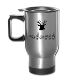 "Sign Language Mug ""Hunting"" Stainless Steel ASL Travel Mug - silver"