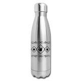 "ASL Merchandise ""ILY Squared"" Stainless Steel ASL Water Bottle 17oz - silver"
