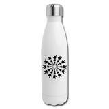 "ASL Merchandise ""ILY Burst"" Stainless Steel ASL Water Bottle 17oz - white"