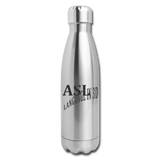 "ASL Merchandise ""Language in 3D"" Stainless Steel ASL Water Bottle 17oz - silver"