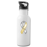"ASL Merchandise ""Awareness"" Aluminum ASL Water Bottle 20oz - white"