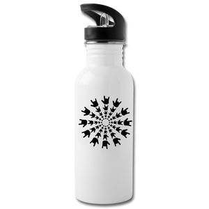"ASL Merchandise ""ILY Burst"" Aluminum ASL Water Bottle 20oz - white"