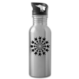 "ASL Merchandise ""ILY Burst"" Aluminum ASL Water Bottle 20oz - silver"