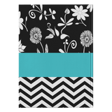"ASL Stationery ""Floral-Chevron"" Hardcover ASL Journal: Personalized"
