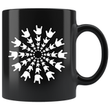 "Sign Language Mug ""ILY Burst"" Black Ceramic ASL Coffee Mug"