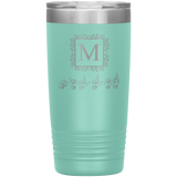 "Sign Language Tumbler ""Monogram"" Personalized ASL Tumbler 20oz"