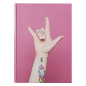 "ASL Stationery ""ILY Pink"" Hardcover ASL Journal"