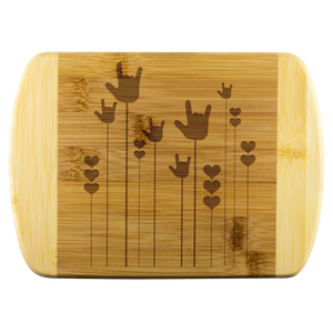 "ASL Merchandise ""ILY Sprout"" Etched Bamboo Cutting Board"