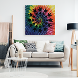 "ASL Home Decor ""ILY Tie-Dye"" Canvas ASL Wall Art - Multiple Sizes"