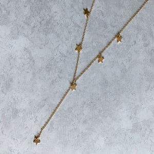 Dripping Star Y Necklace