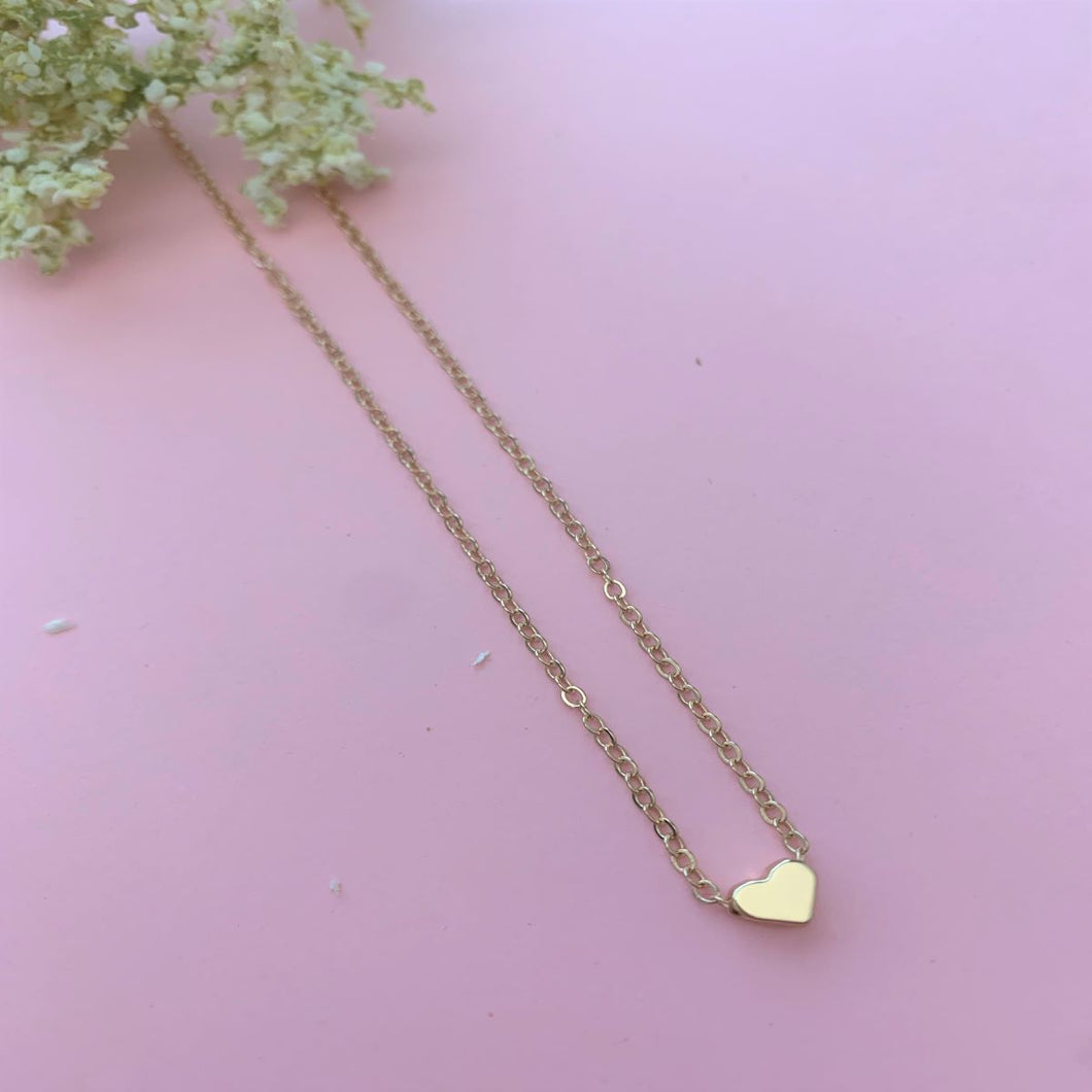 Small Love Heart Pendant Necklace