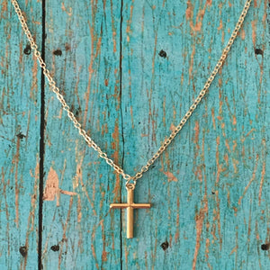 Minimalist Cross Necklace - Silver or Gold