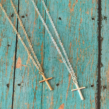 Load image into Gallery viewer, Minimalist Cross Necklace - Silver or Gold