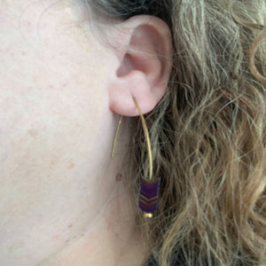 Stone Arrowhead Earrings