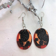 Load image into Gallery viewer, Hear Me Roar 3 Layer Circle Faux Leather Earrings