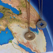 Load image into Gallery viewer, Wanderlust Compass Necklace